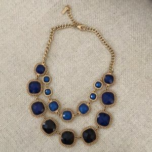 Gold & Blue Statement necklace